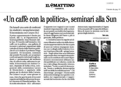 Il Mattino, 11/5/2013