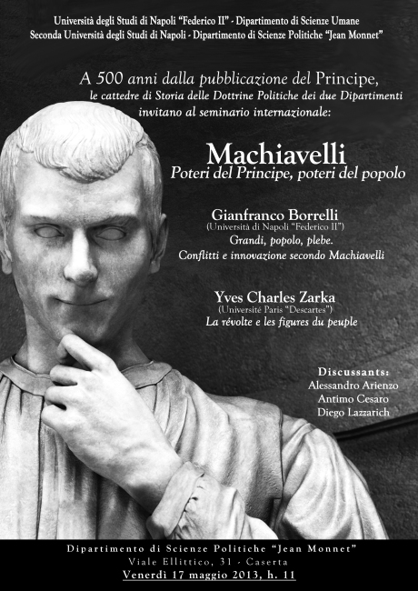 Machiavelli: Poteri del Principe, poteri del popolo