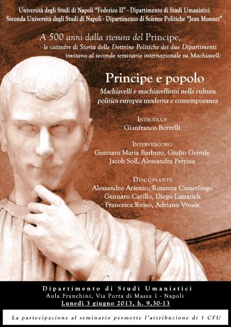 Secondo semanario su Machiavelli.