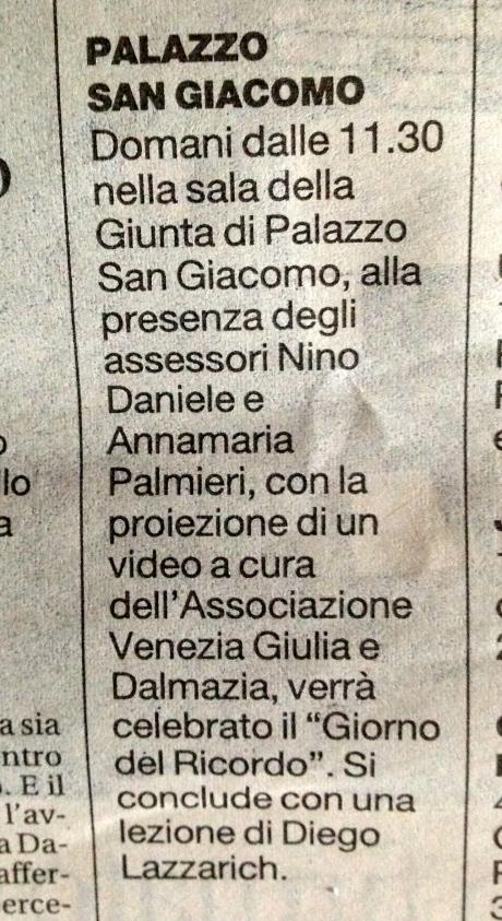 La Repubblica (Napoli), 9/2/2014, p. XIV