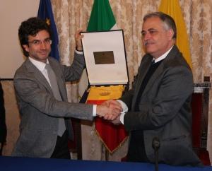 Diego Lazzarich (sinistra) con l'Assessore Gaetano Daniele