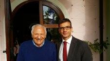Foto con Mogol al Centro Europeo Tuscolano.