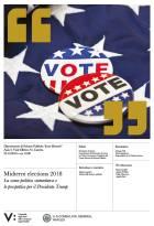 "Locandina del seminario di Morgan Hall: ""Midterm elections 2018"""